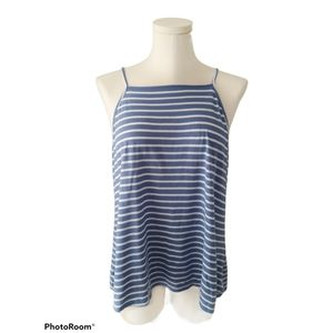 Old Navy Blue and whit striped square neck tank